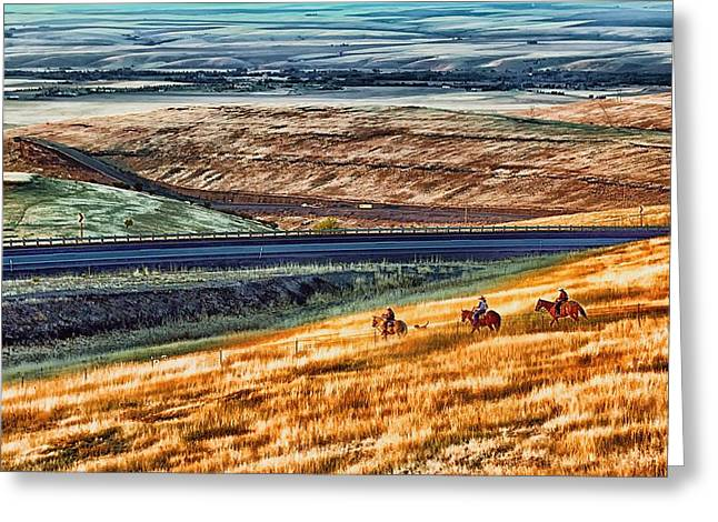 Cabbage Hill Pendleton Oregon Greeting Card