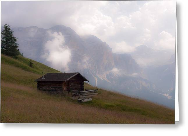 Cabin In The Dolomites Greeting Card