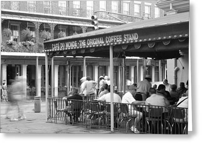 Cafe Du Monde French Quarter New Greeting Card by Panoramic Images