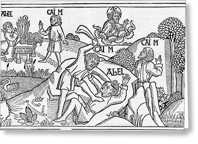 Cain And Abel, 16th-century Bible Greeting Card by King's College London