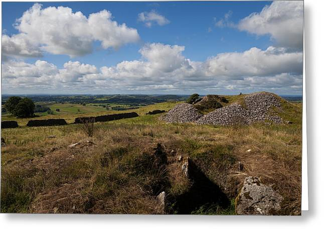 Cairn D On Carbane West, Loughcrew Greeting Card by Panoramic Images