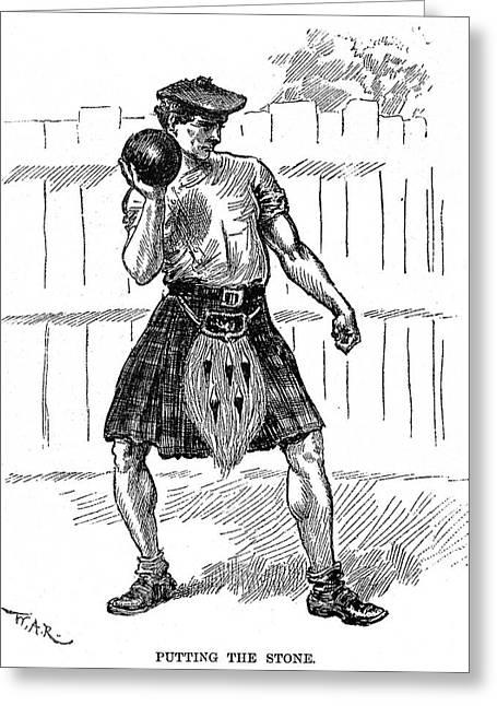 Caledonian Games, 1890 Greeting Card