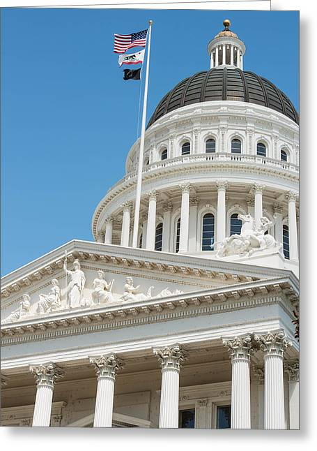 California State Capitol In Sacramento Greeting Card
