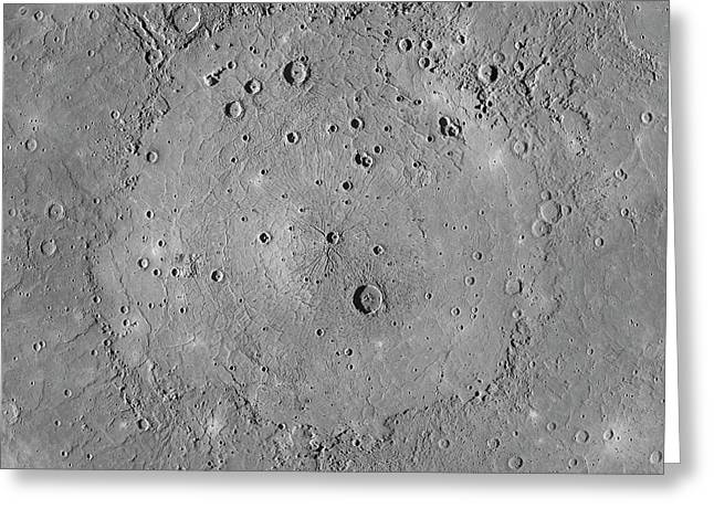 Caloris Basin Greeting Card by Nasa/johns Hopkins University Applied Physics Laboratory/carnegie Institution Of Washington