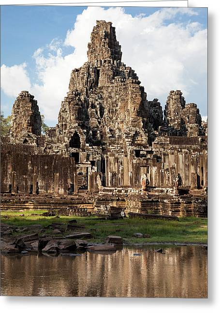 Cambodia, Bayon Temple, Late 12th-13th Greeting Card by Charles O. Cecil