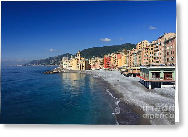 Greeting Card featuring the photograph Camogli - Italy by Antonio Scarpi