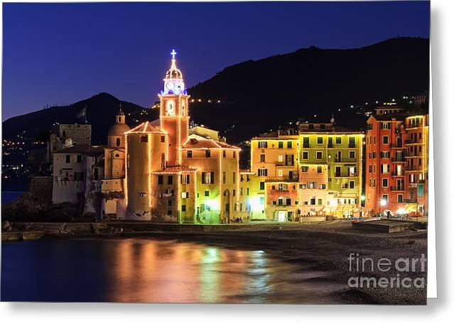 Camogli At Evening Greeting Card