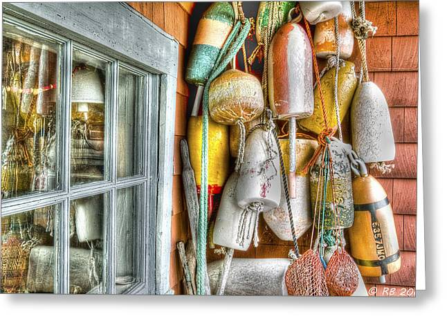 Camp Buoys Greeting Card by Richard Bean