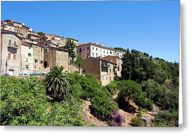 Campiglia Marittima, Livorno Province Greeting Card by Nico Tondini