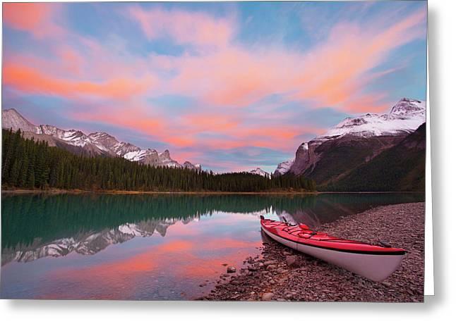 Canada, Alberta, Jasper National Park Greeting Card by Gary Luhm
