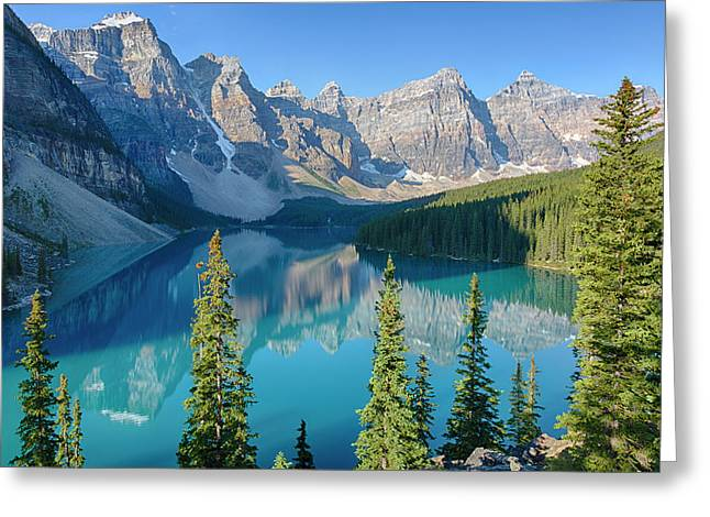 Canada, Banff National Park, Valley Greeting Card by Jamie and Judy Wild