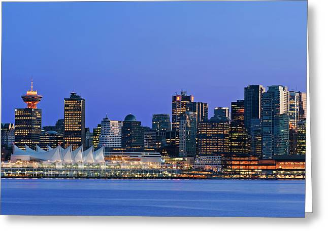 Canada, Bc, Vancouver Skyline Greeting Card