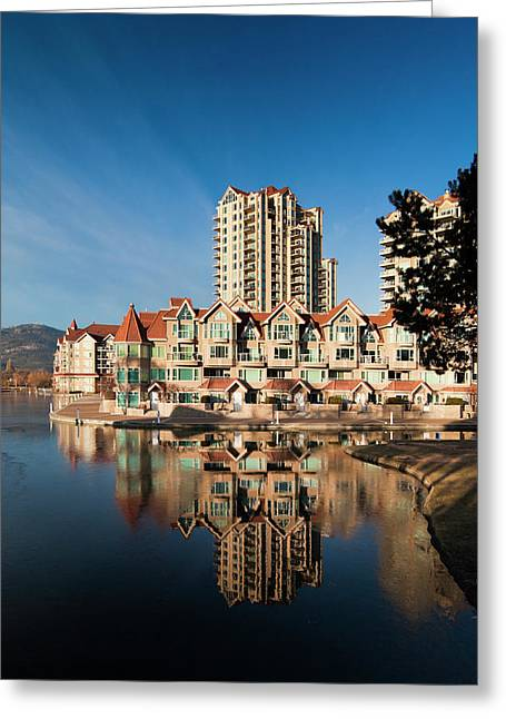 Canada, British Columbia, Okanagan Greeting Card by Walter Bibikow