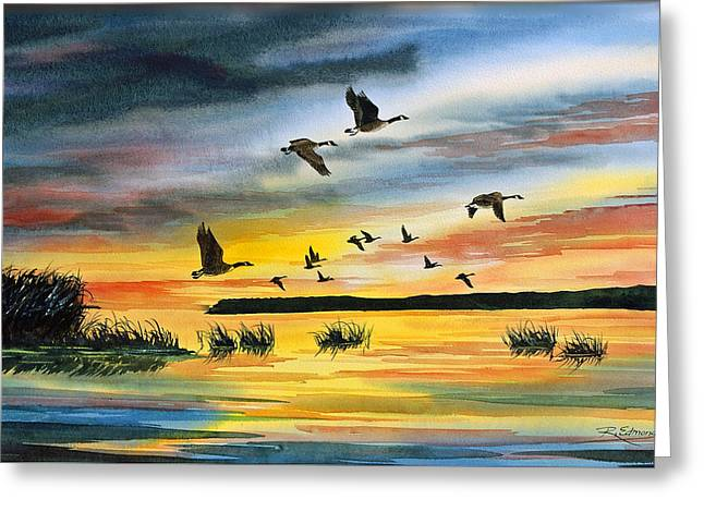 Canadas At Sunset Greeting Card