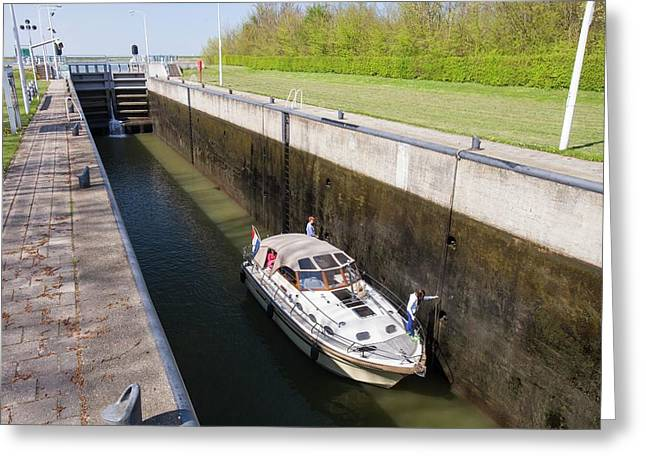 Canal Near Amsterdam Greeting Card by Ashley Cooper