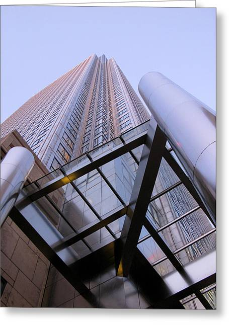 Greeting Card featuring the photograph Canary Wharf 1 by Helene U Taylor