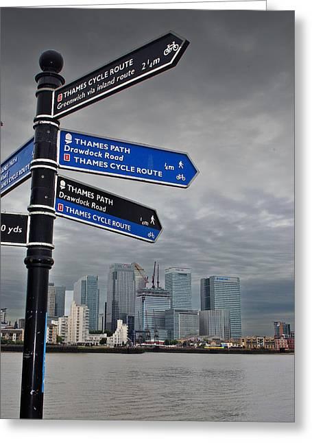 Canary Wharf City Of London   Greeting Card