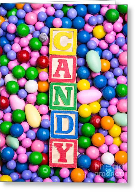 Candy Greeting Card by Edward Fielding
