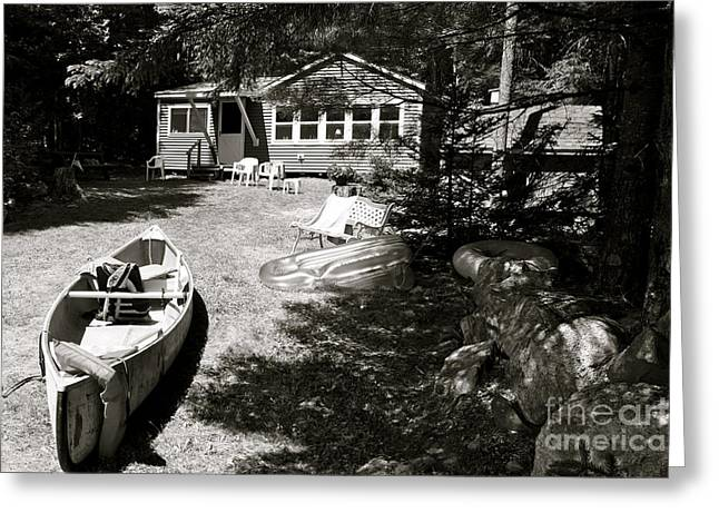 Greeting Card featuring the photograph Canoe At The Lake by Paul Cammarata