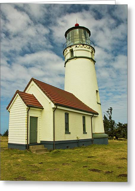Cape Blanco Lighthouse, Cape Blanco Greeting Card by Michel Hersen