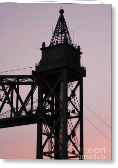 Cape Cod Canal Train Bridge Greeting Card