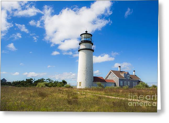 Cape Cod Lighthouse Greeting Card by Diane Diederich