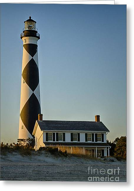 Cape Lookout Lighthouse North Carolina Greeting Card by Carrie Cranwill