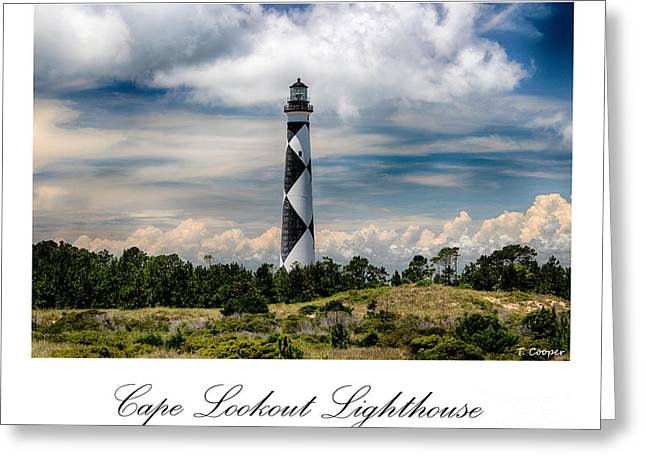 Cape Lookout Lighthouse Greeting Card by Tony Cooper