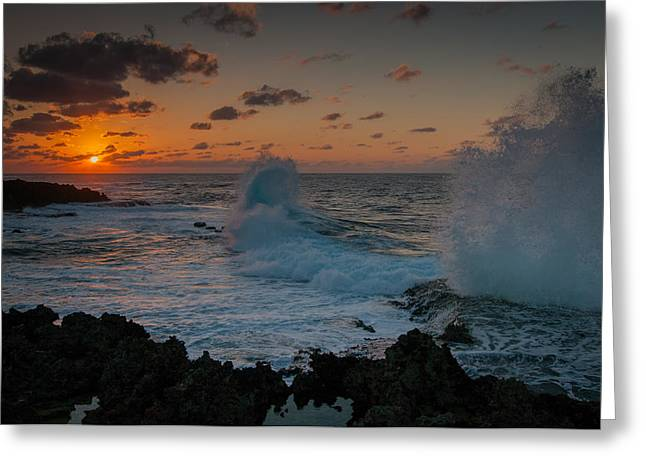 Cape Zampa Sunset Greeting Card
