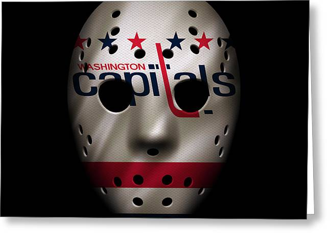 Capitals Jersey Mask Greeting Card