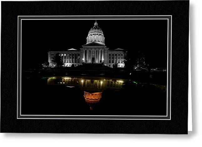 Capitol Reflection Greeting Card by Charles Feagans