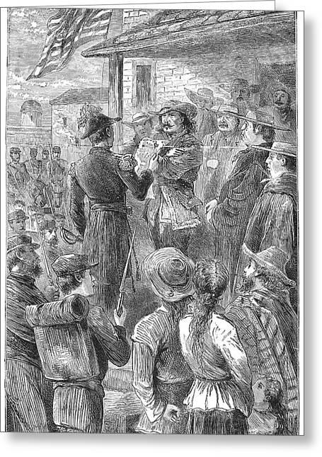 Capture Of Santa Fe, 1846 Greeting Card by Granger