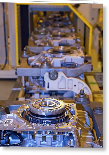 Car Transmission Assembly Line Greeting Card