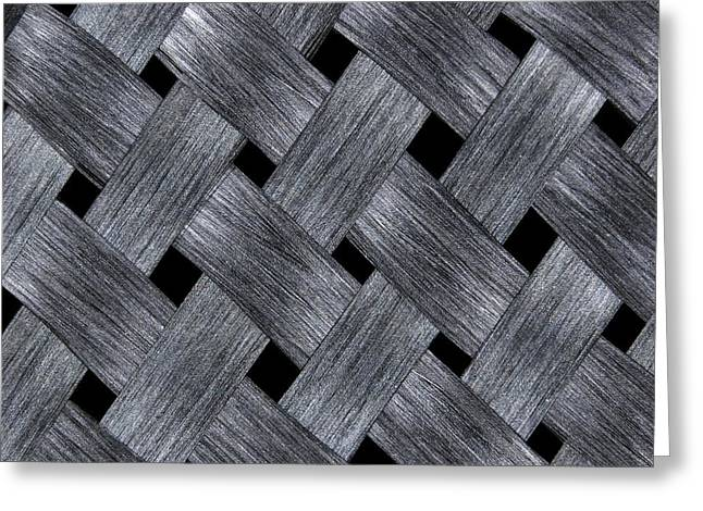 Carbon Fibre Fabric Greeting Card by Alfred Pasieka