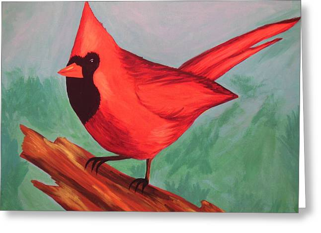 Cardinal Greeting Card by Virginia Forbes