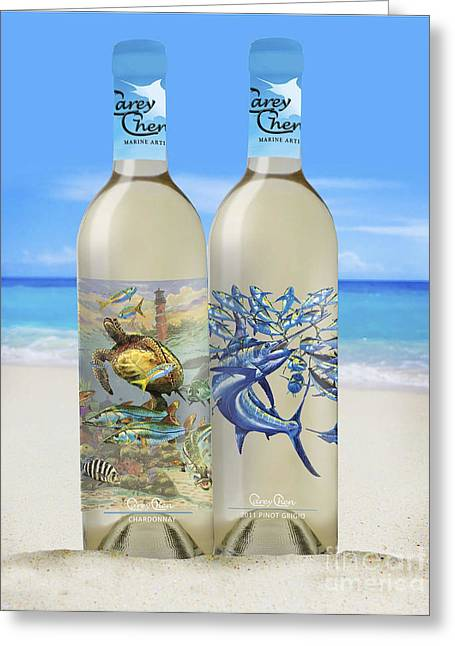 Carey Chen Fine Art Wines Greeting Card