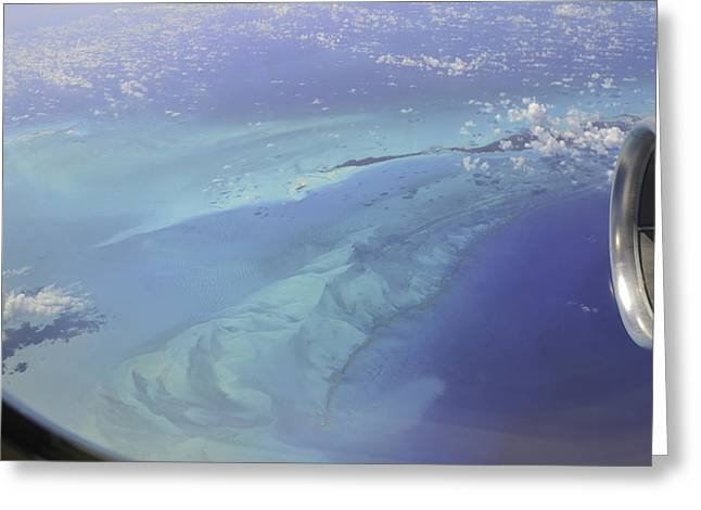 Caribbean Aerial 2 Greeting Card