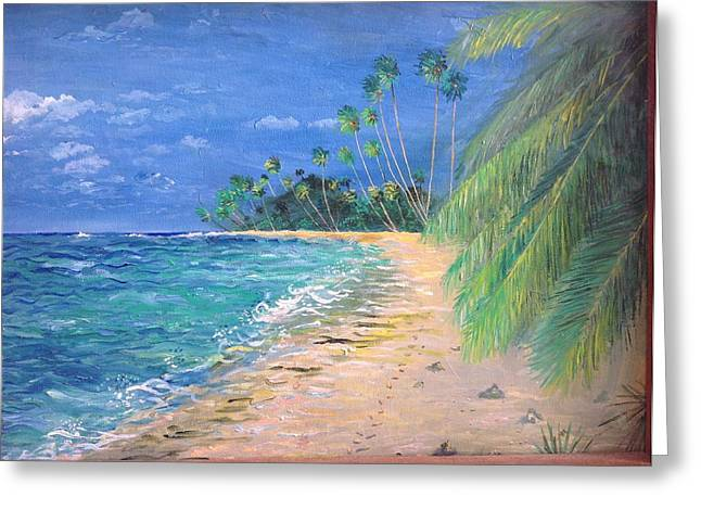 Caribbean Landscape Greeting Card