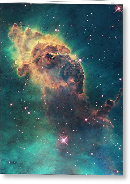Carina Nebula Pillar Greeting Card by Nasa/esa/stsci/hubble Sm4 Ero Team