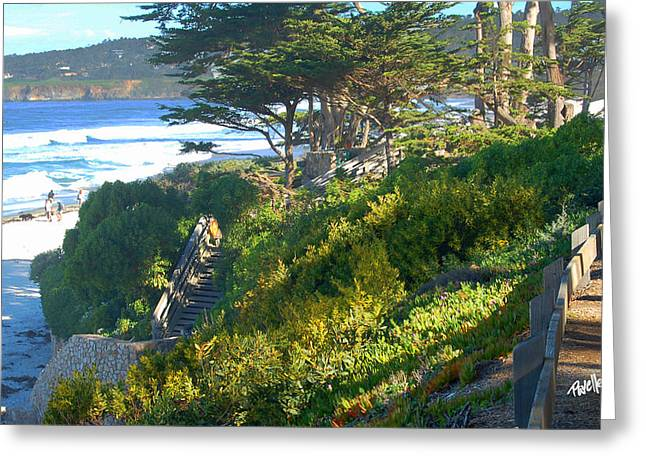 Carmel Beach Stairway Greeting Card