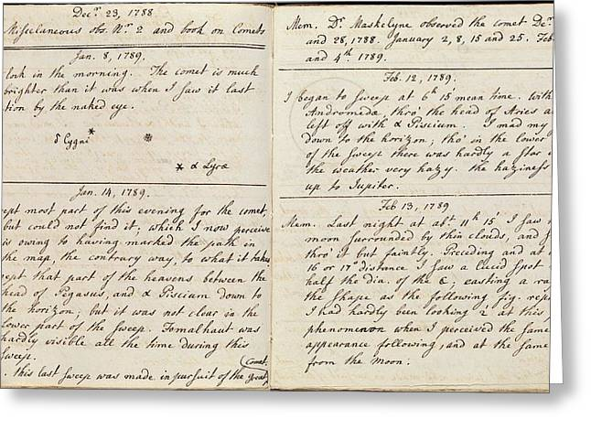 Caroline Herschel Comet Discovery Greeting Card