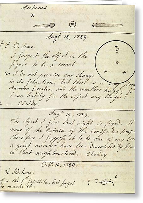 Caroline Herschel Nebula Discovery Greeting Card by Royal Astronomical Society