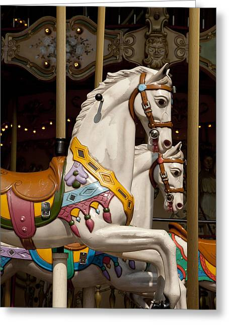 Carousel 1 Greeting Card by Art Ferrier