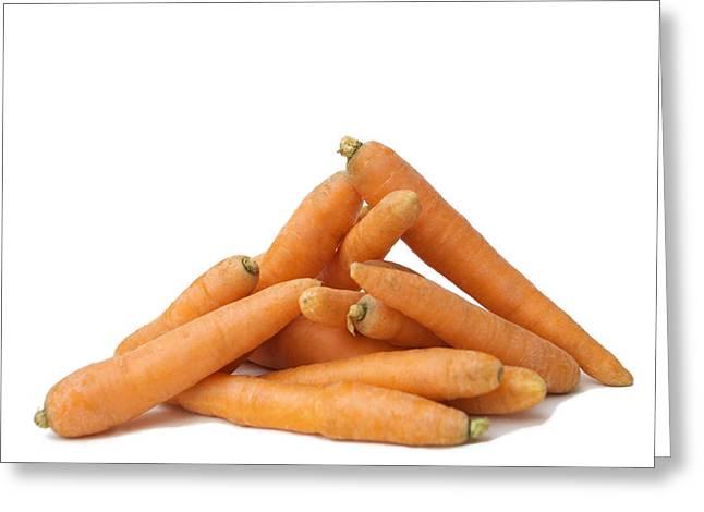 Carrots Greeting Card by Bernard Jaubert