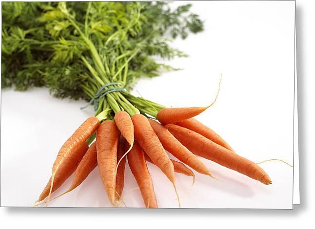 Carrots Daucus Carota Greeting Card by Gerard Lacz