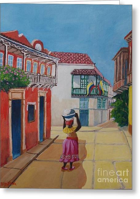 Cartagena Seller Greeting Card