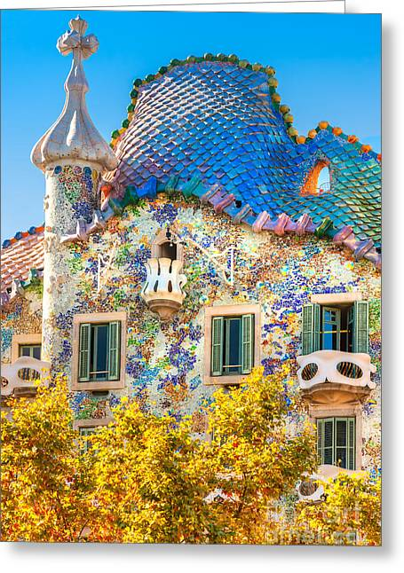 Casa Batllo - Barcelona Greeting Card by Luciano Mortula