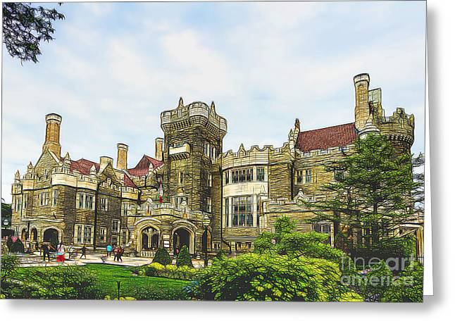 Casa Loma In Toronto Greeting Card