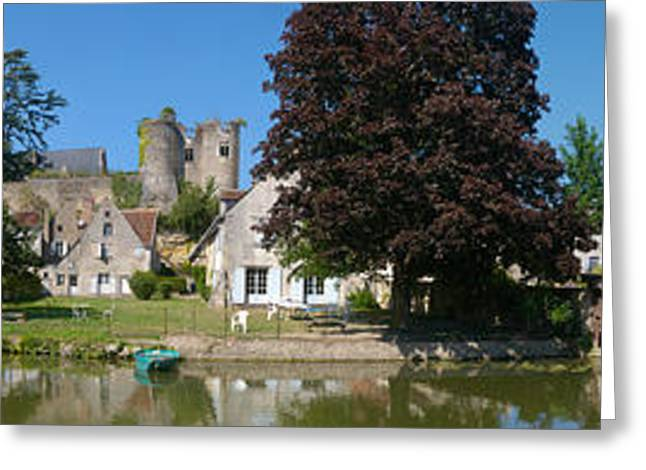 Castle On A Hill, Chateau De Montresor Greeting Card by Panoramic Images