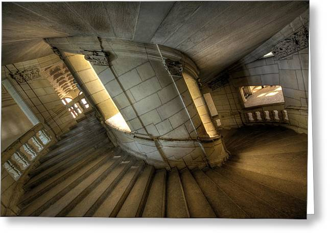 Castle Stairs Greeting Card by Ioan Panaite